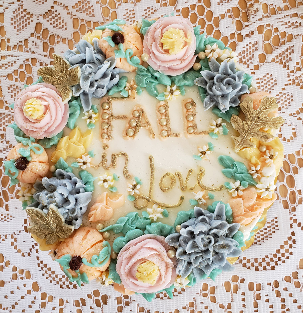 Our 11th Studio Fall Luncheon cake, created by the Breadbasket Bakery in Saratoga