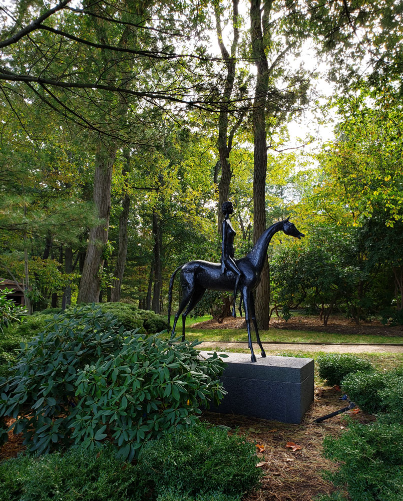 Girl on a Horse, PepsiCo Sculpture Garden, Purchase, NY.
